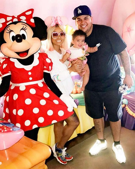 Blac Chyna holding her daughter Dream with ex-fiance Rob Kardashian.