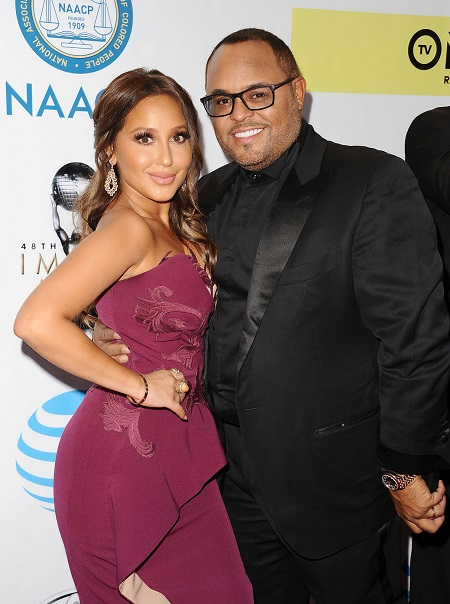 Adrienne Bailon and husband Israel Houghton at the 48th NAACP Image Awards.