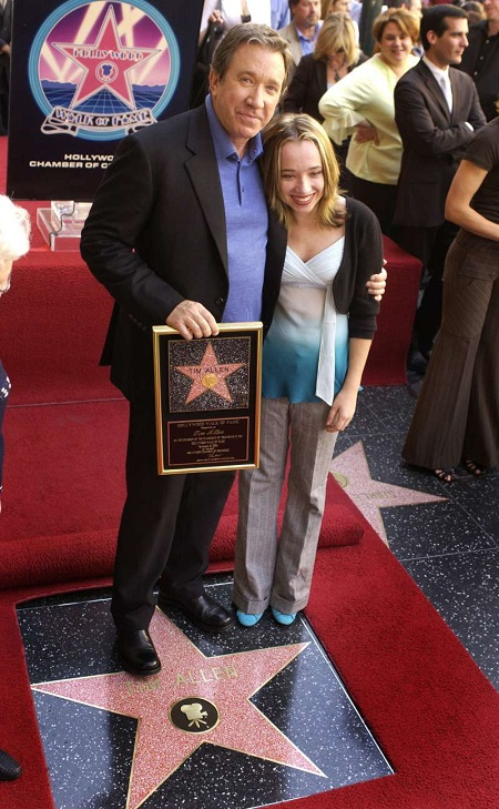 Laura Deibel's ex-husband Tim Allen poses a picture with daughter Katherine Allen.