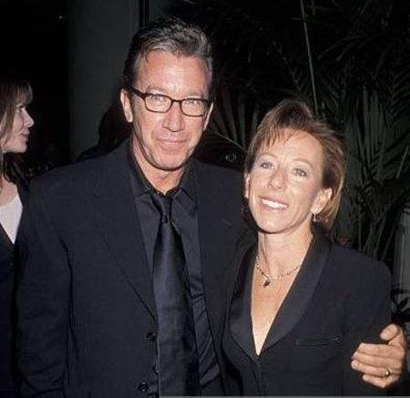 Santa Clause star Tim Allen with ex-wife Laura Deibel in black (right)