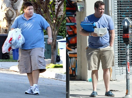 Chaz Bono's before and after picture following his weight loss success.