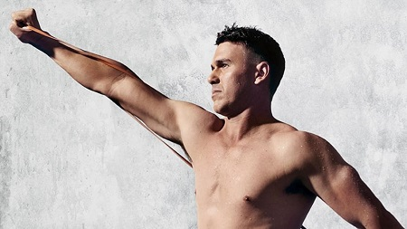 Brooks Koepka's upper half of his nude photoshoot for The Body Issue.