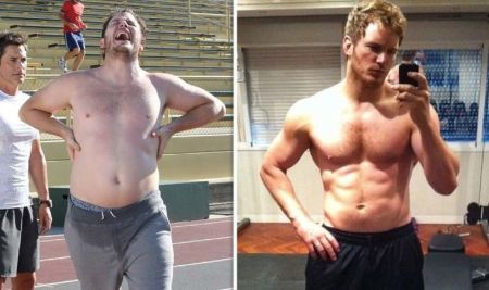 Chris's transformation due to weight loss.