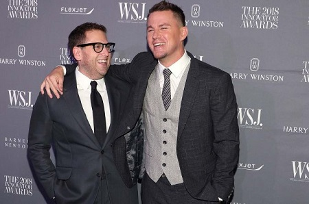 Jonah Hill and Channing Tatum laughing it up during 'The 2018 Innovator Awards'.