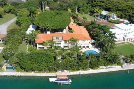 Rosie O'Donnell's massive house at Miami, Star Island.