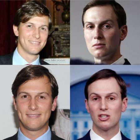 A photo reflecting the changes in Jared Kushner's facials.