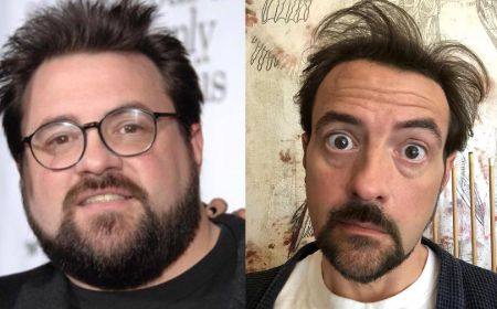 A before and after picture of Kevin Smith.