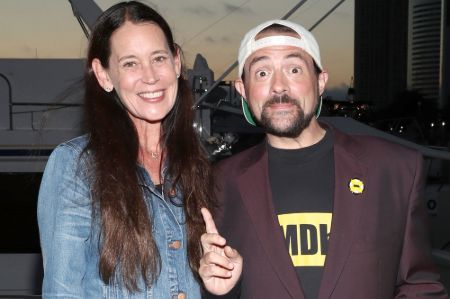 Kevin Smith and Jennifer Schwalbach first met in Los Angeles.