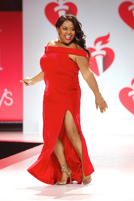 Sherri Shepherd on catwalk at the 15th Annual American Heart Association's 'Go Red for Women' Red Dress Collection show during New York Fashion Week on Feb 7, 2019