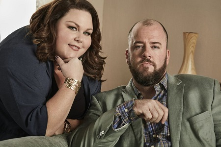Chrissy Metz and her co-star Chris Sullivan.