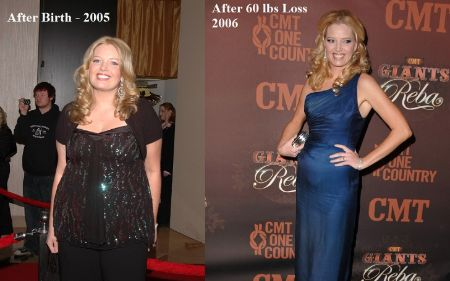 Melissa Peterman underwent a 60-pound weight loss over the years.