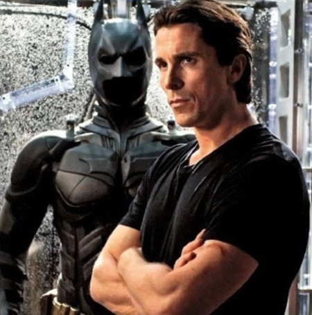 Christian Bale's look in the Batman movie.