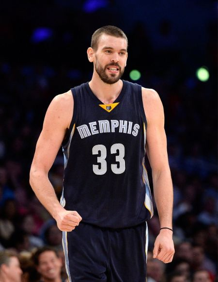 Marc Gasol in the Memphis Grizzlies caught on the camera.