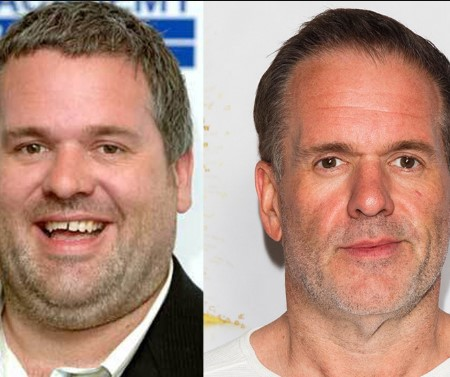 Chris Moyles weight loss. before and after.