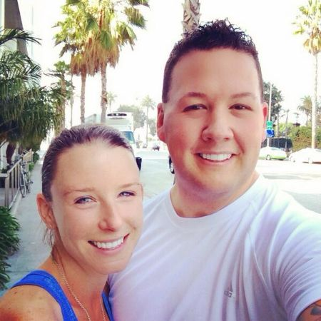Graham Elliot poses for a picture with wife Allie Elliot.