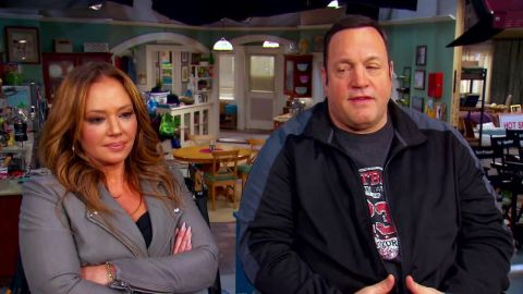 Kevin James and his wife Steffiana caught in the camera during an interview.