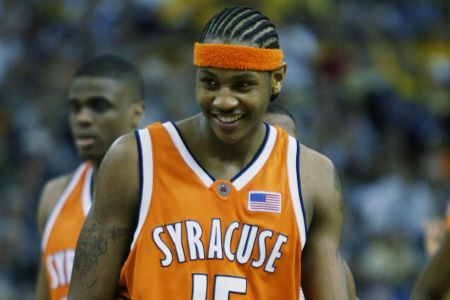 Carmelo Anthony played for one season for the basketball team of Syracuse University.