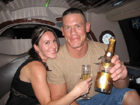John Cena was married to Elizabeth Huberdeau in the past.