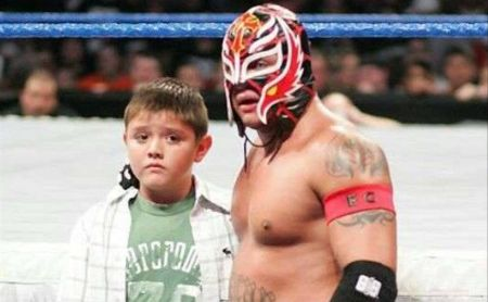 Rey Mysterio's son is also working hard to be a pro wrestler.