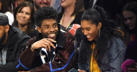 Taylor Simone Ledward and Chadwick Boseman were last spotted in a NBA game.