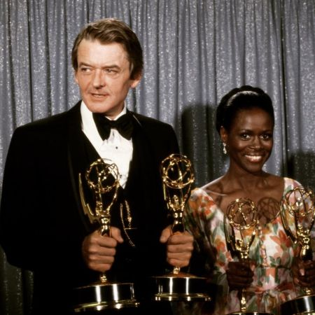 "Hal Holbrook and Cicely Tyson at the Emmy Awards in 1974... and backstage after a 2013 Broadway performance of ""The Trip to Bountiful"" starring Miss Tyson."