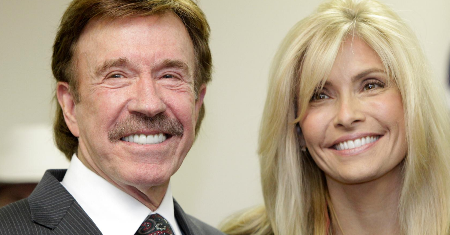 Chuck Norris with his current wife, Gena O'Kelly
