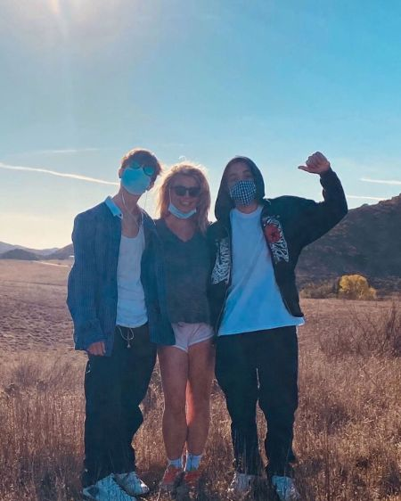 Britney Spears with her sons Jayden and Sean Preston.