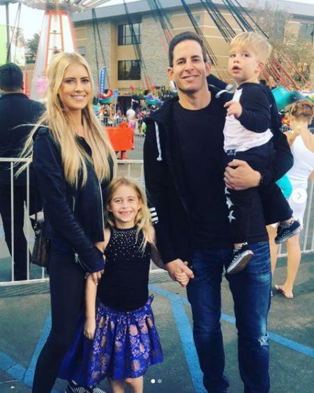 Family photo of Christina EI Moussa and her ex-husband Tarek and 2 children