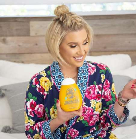 Savannah Chrisley while promoting skin care products.